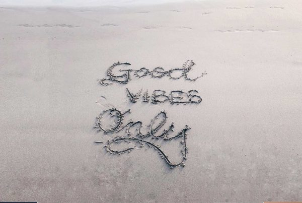 good vibes only written in sad
